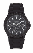 Freelook Watch Seadiver Black Band Multi Function Swarovski bezel
