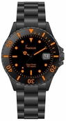 Freelook Watch Black Plastic with tinted face-orange