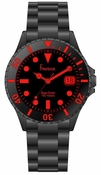 Freelook Watch Black Plastic with tinted face-red