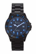 Freelook Watch Black Plastic with tinted face-blue