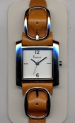 Freelook Watch Double leather band with buckles-brown/beige