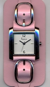 Freelook Watch Double leather band with buckles-pink