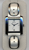 Freelook Watch Double leather band with buckles-white