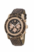 Freelook Watch ALPINA Brown Snakeskin