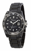 Freelook Watch Black Ceramic with black bezel and dial