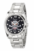 Freelook Watch SKULL blk dial SS case & bracelet