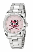 Freelook Watch KITTY pink dial SS case & bracelet