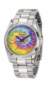 Freelook Watch DYE multicolor dial no numerals SS case & bracelet