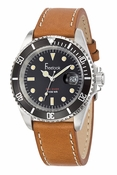 Freelook Watch BROWN LEATHER BAND BLACK DIAL