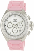 Freelook Watch Aquamarina Pink Band White Dial - CLOSEOUT FINAL SALE