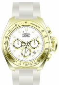 Freelook Watch Aquamarina III White Band/Gold Case/white dial