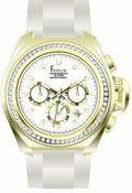 Freelook Watch Aquamarina III White Band/Gold Case/swarovski bezel