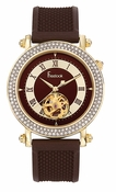Freelook Watch Colisee- YG SS case-brown skeleton dial-brown rubber band