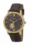 Freelook Watch Cuomo-Brown band brown face swarovski bezel and indexes