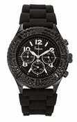 Freelook Watch Aquamarine Royale- Black SS case, Black-Black Silicon