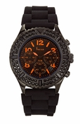 Freelook Watch Aquamarine Royale- Black SS case, Black/Orange Dial