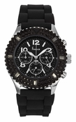 Freelook Watch Aquamarina Royale-  Black-Black Silicon