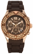 Freelook Watch Aquamarina Royale-  Brown/RG-Brown Silicon
