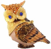 Well Jeweled Owl Box