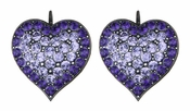 LK Jewelry Violet Heart Earrings