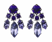 LK Jewelry Violet Fan Earrings