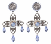 LK Jewelry Fleur Drop Earrings