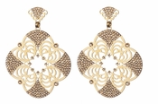 LK Jewelry Pierced Flower Earrings