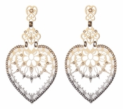 LK Jewelry Pierced Heart Earrings