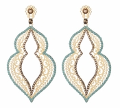 LK Jewelry Pierced Leaf Earrings
