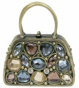 Well Jeweled Multi-Colored Stones Bag Box