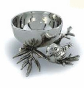 "Star Home Designs Birds and Branches Tidbit Bowl, 4""D"