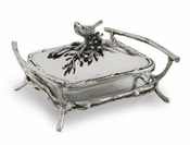 Star Home Designs Birds and Branches Sq Baker with Lid