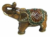 Well Jeweled Amber Elephant Box