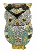 Well Jeweled Owl Jewelry Box