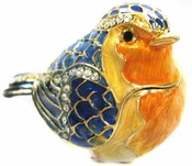 Well Jeweled Blue Bird Box