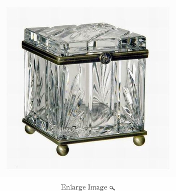 Box, Crystal, Cubed, Brass Trim - SPECIAL