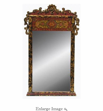 Mirror, w/Wooden Frame