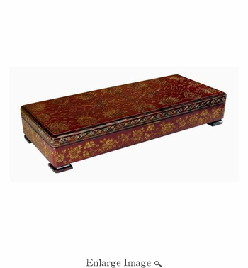 Box, Floral Pattern, Wooden
