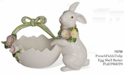 Kaldun & Bogle French Fields Bunny Egg Shell Basket