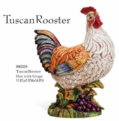 Kaldun & Bogle Tuscan Rooster Hen with Grape Figurine