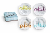 Cocktails Plates Set/4 - Closeout