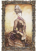 SOLD OUT Tizo Jeweled & Enameled Frame 5x7 - CLOSEOUT