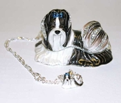 Shih Tzu Jeweled Box With Necklace - CLOSEOUT