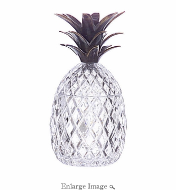 Pineapple, Crystal w/Bronze Leaves - SPECIAL