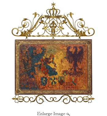 Wall Panel, Wood and Metal, Heraldry Collection