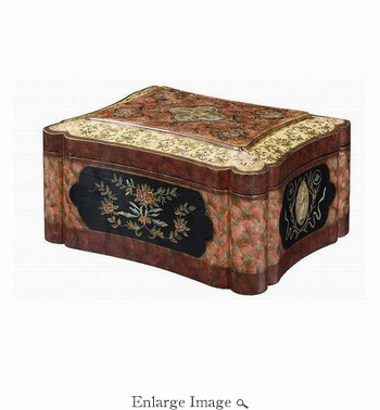 Box, Hand Painted, Carpet Design