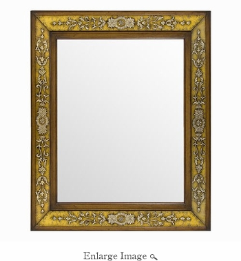 Accent Mirror; Wood and Glass