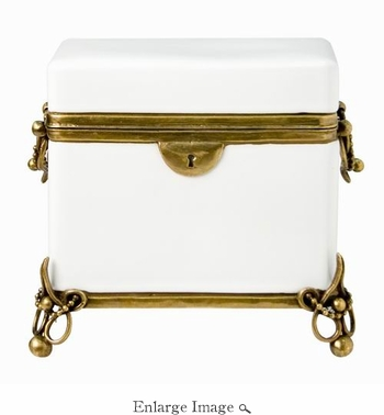 Box; Porcelain and Brass, Art Nouveau Style