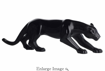 Daum Crystal Panther Large Size Black Limited Edition