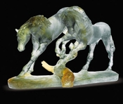 Daum Crystal Love Horses - Guaranteed Lowest Price